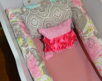 American Girl Bitty Baby Bedding-Bitty Baby Bedding-American Girl Bedding-Baby Doll Bedding-Doll Cradle Bedding-Choose Your Fabric!