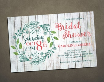 Beautiful Floral Bridal Shower Invite