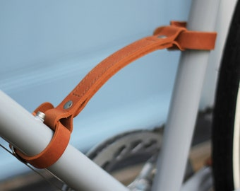 Leather Bike Carry Handle , portaging strap , bike accessory - Temple Cycles