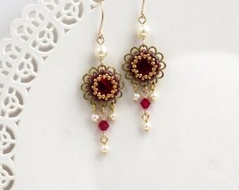 SALE Christmas gift for her Dangle earring Swarovski
