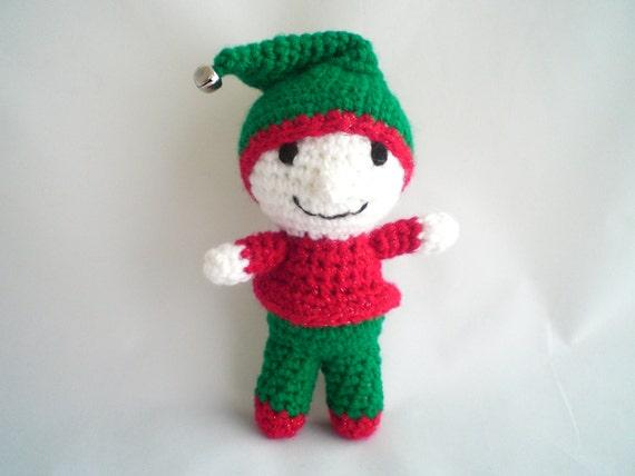 Crochet Elf / Christmas Elf / Amigurumi Elf / Plush Elf Toy