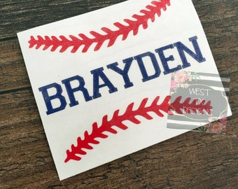 Personalized Baseball | Baseball Sticker | Sports Decal | Baseball Decal | Yeti Decal | Car Decal