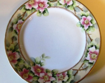 Vintage Nippon Floral Plate