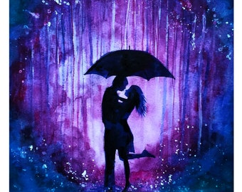Love in the Rain Print