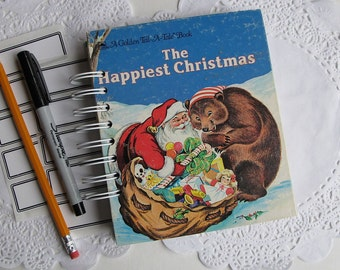 Christmas book journal, smash book, altered book journal, December Daily album - The Happiest Christmas