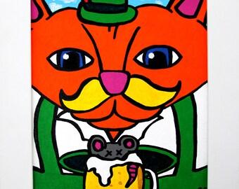 Oktoberfest Katze 8x10