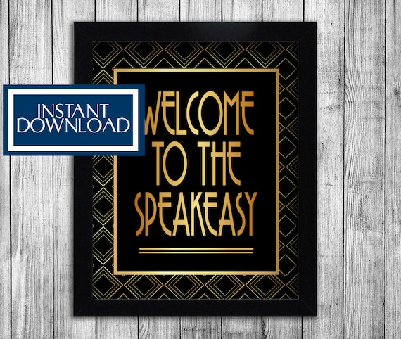 1920s speakeasy printable party decorations gatsby themed for 1920s party decoration speakeasy