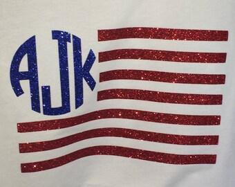 Monogrammed Flag Shirt