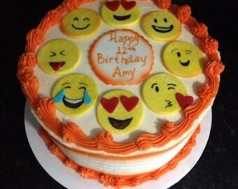 Sugarpaste Emoji Cake Topper
