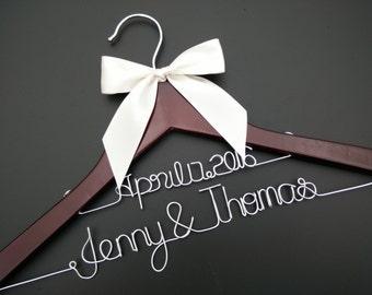 Double line hanger ,Personalized Wedding Hanger, bridesmaid gifts, name hanger, brides hanger bride gift,bride hanger for wedding dress