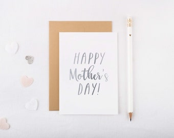 Silver Foil 'Mother's Day' Card