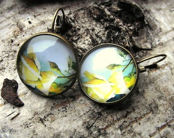 Cabochon earrings spring nostalgia