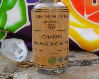 Chakra Spray~ Chakra Balancing ~ Gemstone Elixir Spray ~ Body Spray ~ Energy Spray ~ 1 fluid oz.