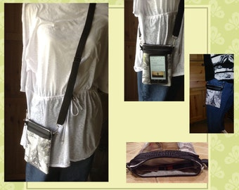 iPhone 6 plus cross body, Large Smartphone body, touchscreen purse
