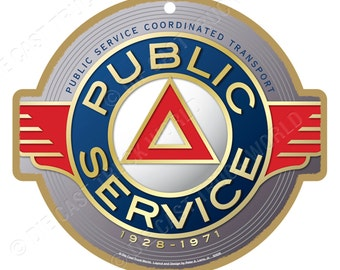 Public Service Logo Wood Plaque / Sign