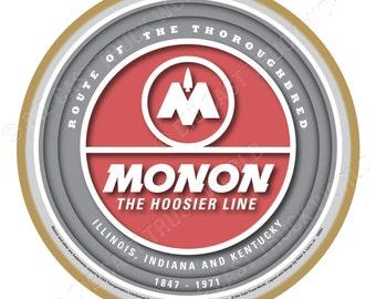 Monon Railroad Logo Wood Plaque / Sign