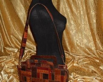 Genuine vintage bag           genuine python skin      Patchwork