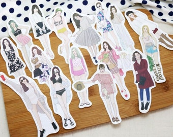 bonbon girls sticker set - little sweet seasons
