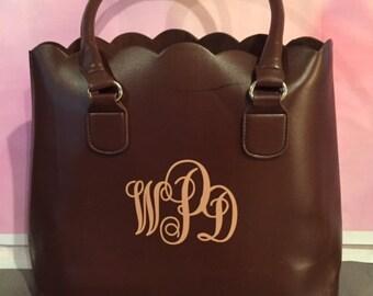 SALE !! 19.99 (reg. 24.99) BROWN BLACK & White ! Monogrammed  Handbags !!