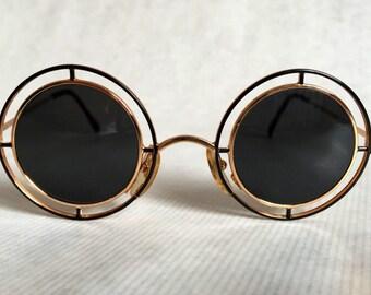 Casanova 24k Gold Plated C 01 MTC 2 Vintage Sunglasses New Old Stock