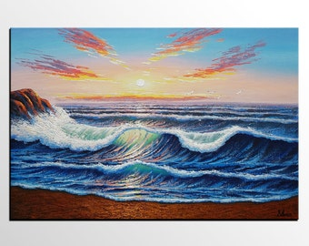 Abstract Art, Seascape Painting, Original Painting, Wall Art, Canvas Painting, Large Painting, Canvas Painting, Abstract Painting, Large Art