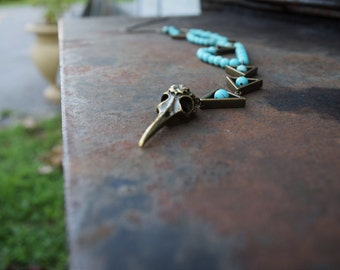 turquoise and triangles necklace
