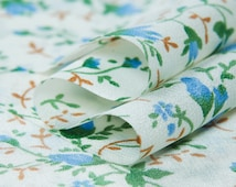 Fresh style: Silk crepe de chine fabric,small flowers,floral prints,soft and thin, sew for top, shirt, blouse,skirt,dress, craft by the yard