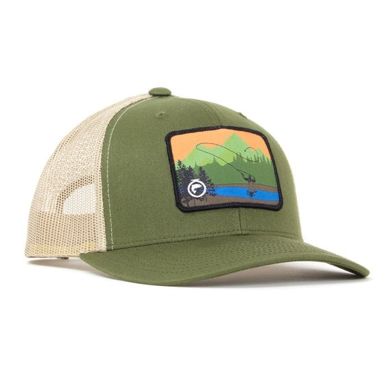 Fly fishing trucker hatfly fishing hatsmens by fishonenergyco for Fishing trucker hats