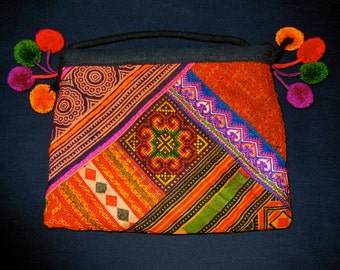 SALE# Tribal Bag Hand Embroidered Hmong Thailand Ethnic Accessory Fashion New
