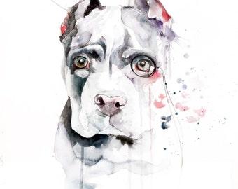CUSTOM PET PORTRAIT - dog, cat, horse, animal Watercolor Painting