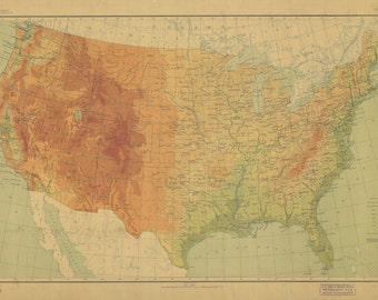 United States Map 1911