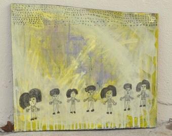 Painting Girls - Primitive - Outsider Art