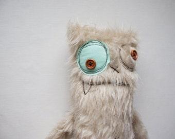 Furry stuffed Monster, handmade monster, nursery toy, fluffy monster, stuffed animal, cute monster, plush monster, plushie
