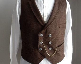 Gentlemen's Donegal Tweed Waistcoat