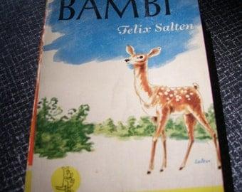 Bambi by Felix Salten Pb Unabridged 1942 Vintage