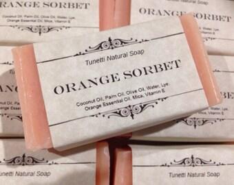 Natural Homemade Soap - Orange Sorbet