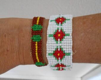 Pair of 1920's Beaded Bracelets
