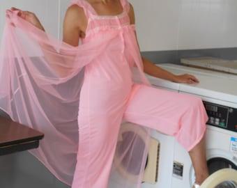 Groovy Cool 1960's Nylon Pajamas/Loungewear Culotte Lingerie  Never Worn in Original Bag