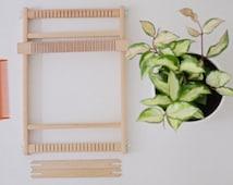 Weaving Loom Ø 20 cm | Webrahmen | Lap Loom | Tissage | Tapestry Weaving | Frame Loom | Handmade Wall Hanging
