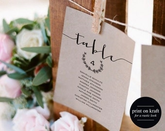 Seating chart cards Etsy