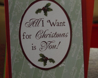 I Want You On My Christmas Tree Card