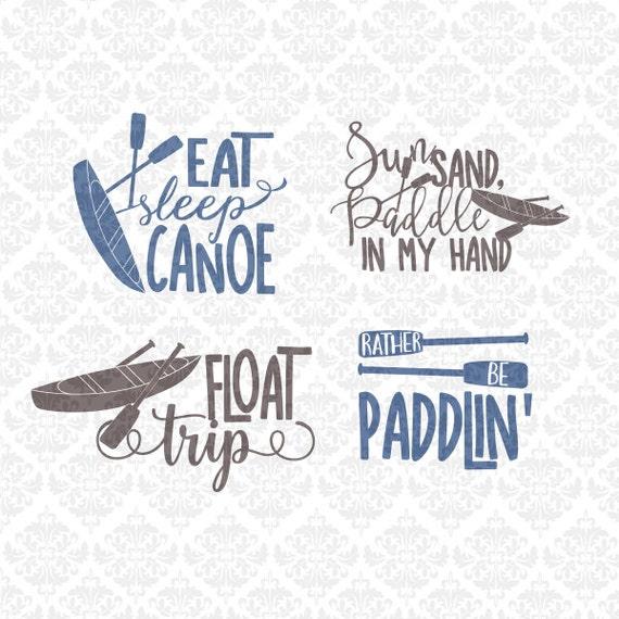 Download Float Trip Canoe Kayak Summer Camping SVG DXF STUDIO ai eps