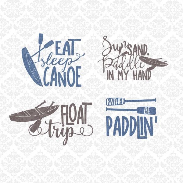 Cutting Edge Stencils Explores Island Adventures: Float Trip Canoe Kayak Summer Camping SVG DXF STUDIO Ai Eps