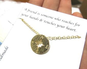 Compass necklace | Gold Compass Necklace | C3