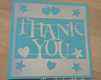 Thank You Paper Cutting Template - Commercial Use
