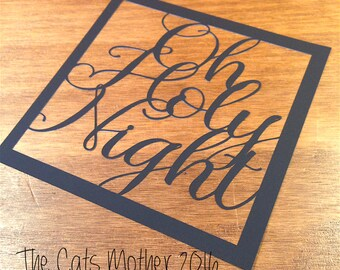 Oh Holy Night Christmas Themed Paper Cutting Template - Commercial Use