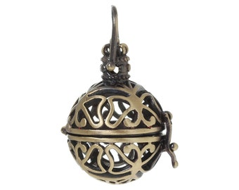 5PC Harmony Pendants Hollow Butterfly Bola Magic Bronze Tone(for 20mm bead)