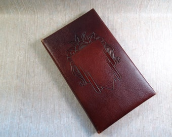 Leather 1956 Calendar Notepad / Notebook