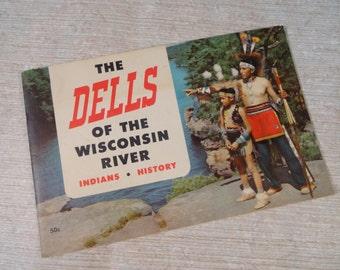 Wisconsin Dells 1954 Indians History Tourist Brochure