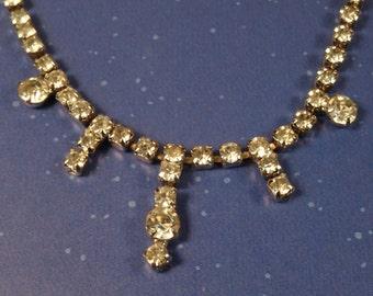 Rhinestone Choker Necklace Beautiful Vintage Piece